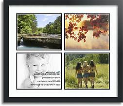 """ArtToFrames Collage Mat Picture Photo Frame - 4 8x10"""" Openin"""