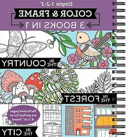 Color & Frame Coloring Book - 3 in 1 - Country, Forest, City