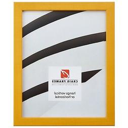 """Craig Frames Colori, 0.80"""" Modern Yellow Picture Frame"""