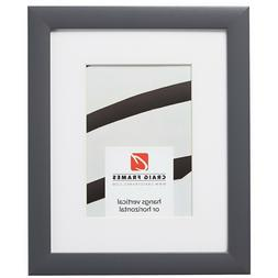 Craig Frames Contemporary, 1 Inch Gray Picture Frame With a