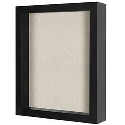 8.5x11 Inch Document Shadow Box Frame with Soft Linen Back -