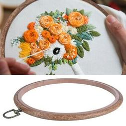 Embroidery Wooden Frame Hoop Ring Cross-Stitch Sewing DIY To