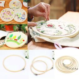 Embroidery Wooden Frame Hoop Ring Cross Stitch Sewing DIY To
