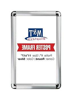 Snap Frame 11 X 17 Inch, Poster Size 1 Inch, Silver Color Pr