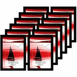 Frames With Glass Fronts, Pack-4x6, Black, 12 Count Posters