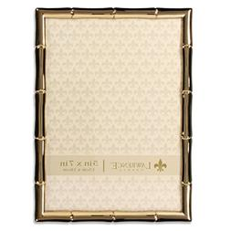Lawrence Frames 5 x 7 Gold Metal Picture Frame with Bamboo D