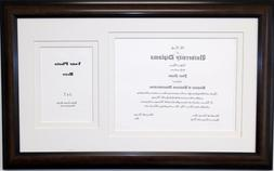 Graduation Diploma Certificate Frame Holds 8-1/2x11 with 5x7