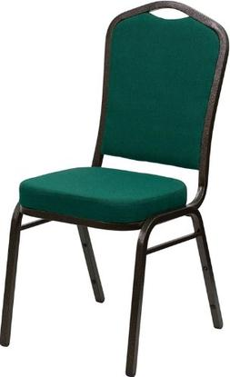 HERCULES Series Crown Back Stacking Banquet Chair with Green