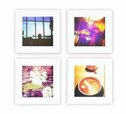 Instagram Frames Collection, Set of 4, 4x4-inch Square Photo