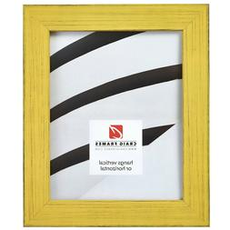 Craig Frames Jasper, Distressed Country Yellow Picture Frame