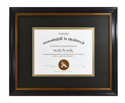 11x14 frame for 7x9 diploma certificate black
