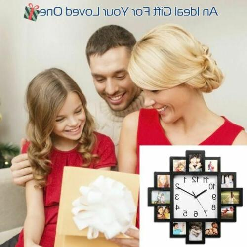 12 Pictures Art Photo Clock Decor Wall Hanging New