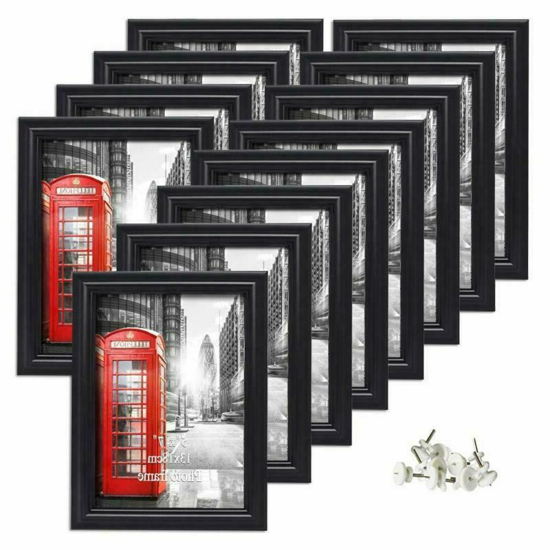 12 Pack 5x7 Picture Frames Black Photo Frame Wall Hanging Ta