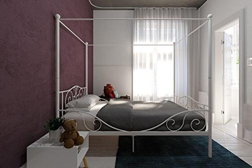 DHP 4020129 Canopy Bed with Full, White
