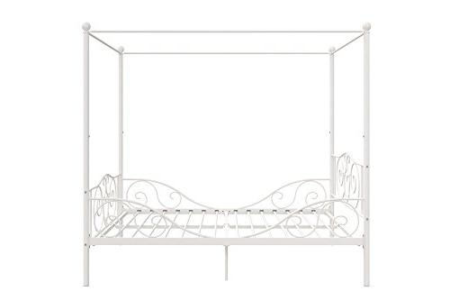 DHP Bed with Sturdy Frame, Full, White