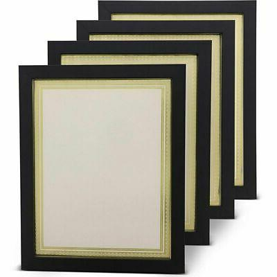 4x document frame w blank certificate paper