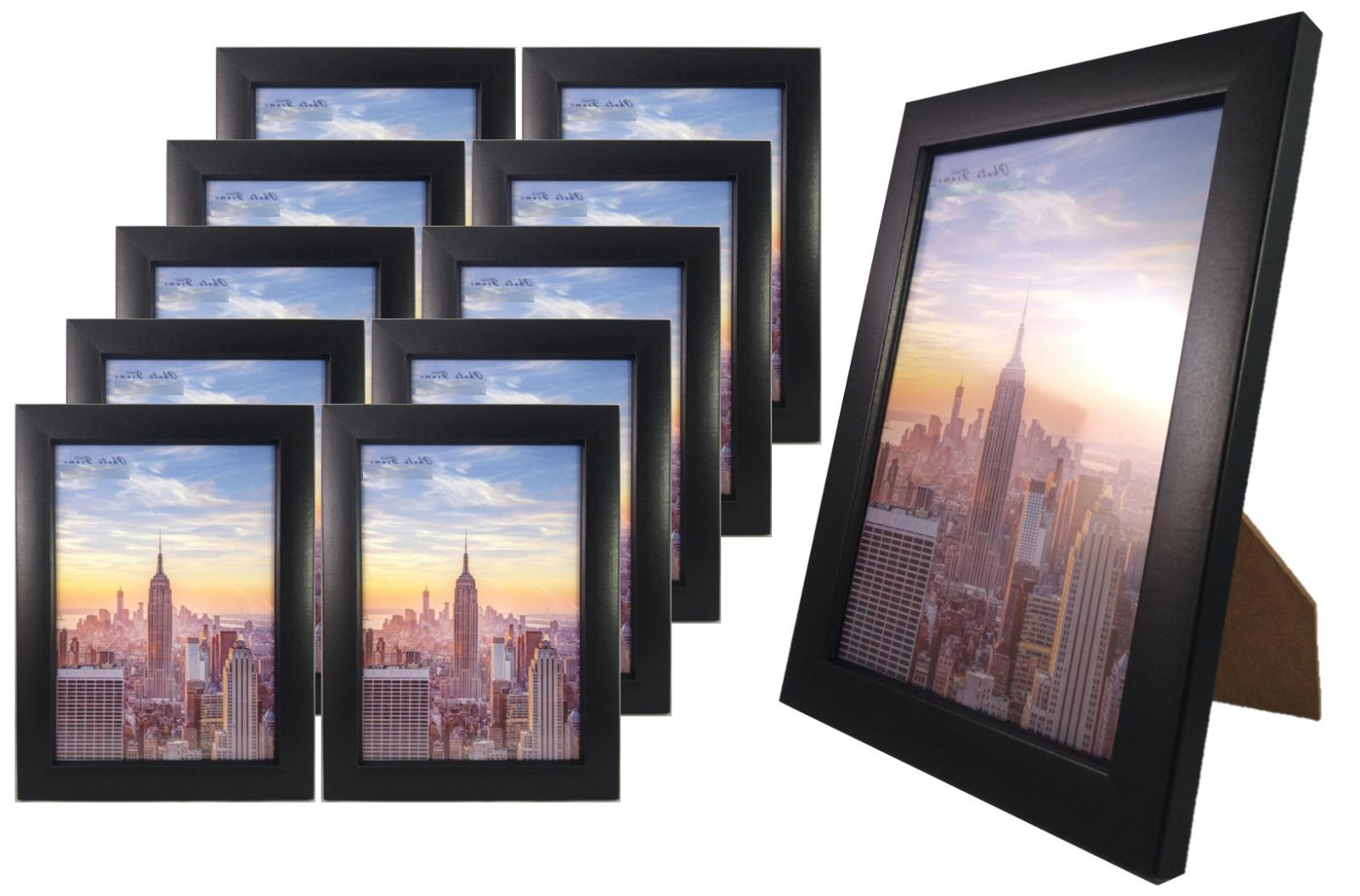 5x7 black wood picture frame glass front