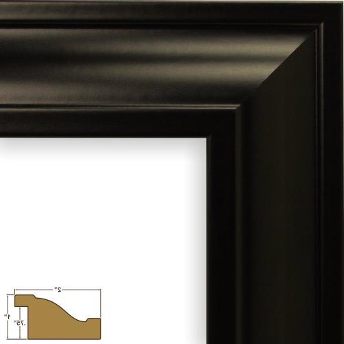 Craig Frames 21834700BK 11 by 14-Inch Frame, Single Mat with 2-5 by