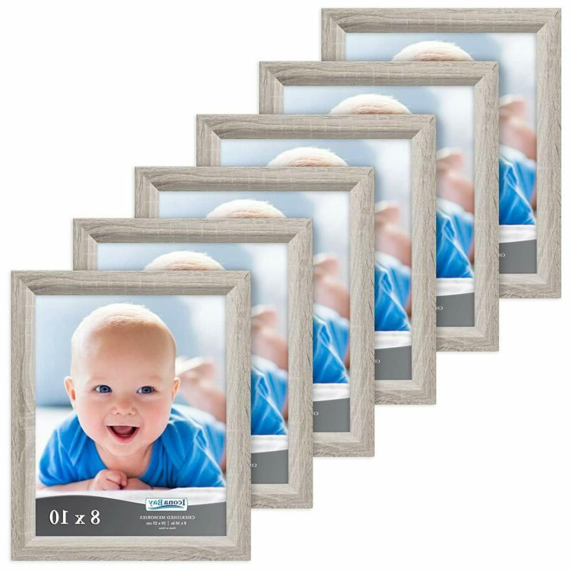 8x10 picture frame 6 pack heritage gray