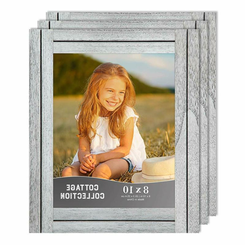 Icona Bay 8X10 Picture Frames, Rustic Picture Frame Set, Nat