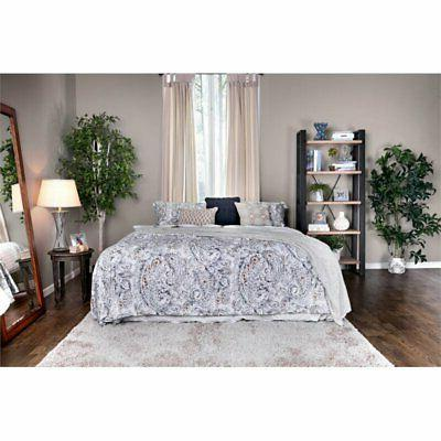 Furniture of America Polosa King Frame in Silver
