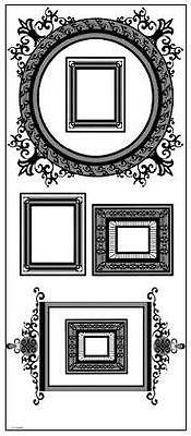 Assorted Family Picture Frames Wall Decals Removable Vinyl S