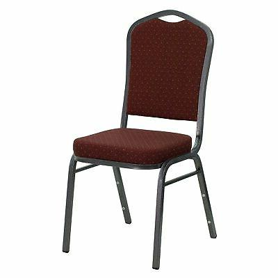 banquet chairs w burgundy fabric seat