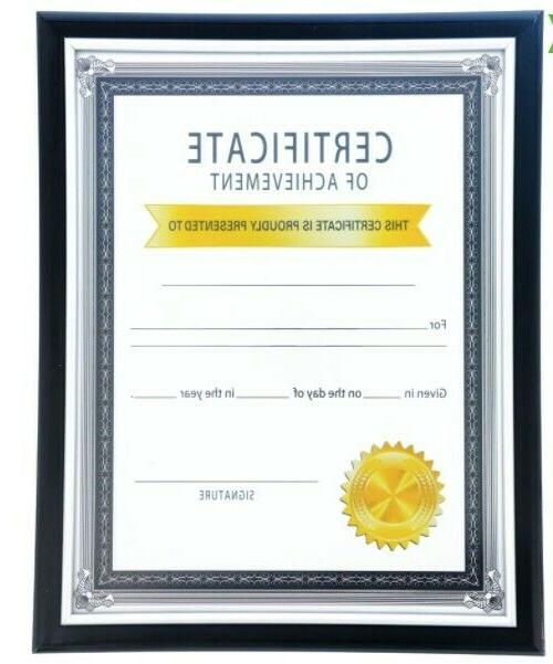 black certificate graduation document frames with silver