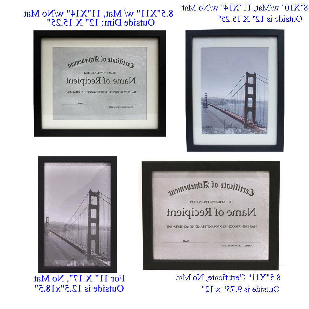 choice of different size picture frames diploma