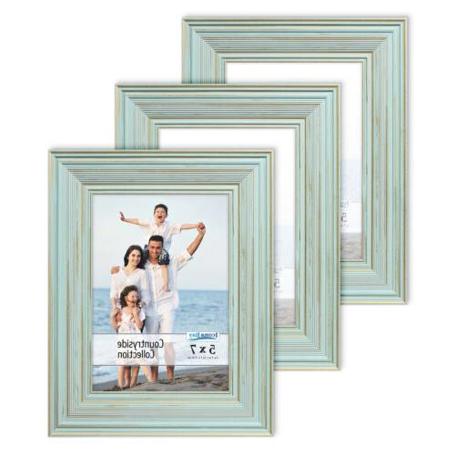countryside picture frames country chic 3 pack