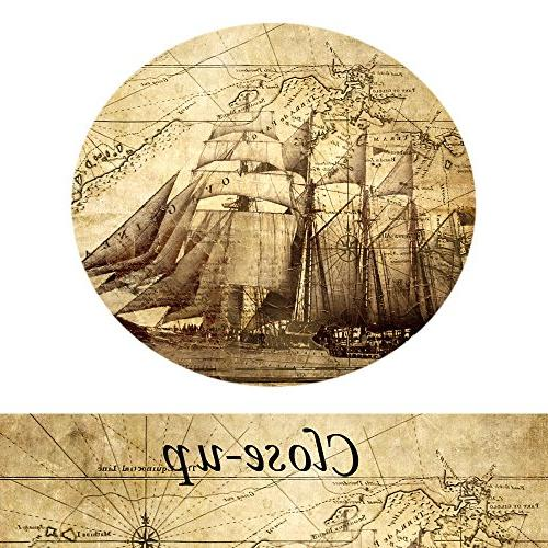 Creative Art- Vintage Map Canvas Prints Ocean Map Poster Art Print Canvas for Kids Study Ready to