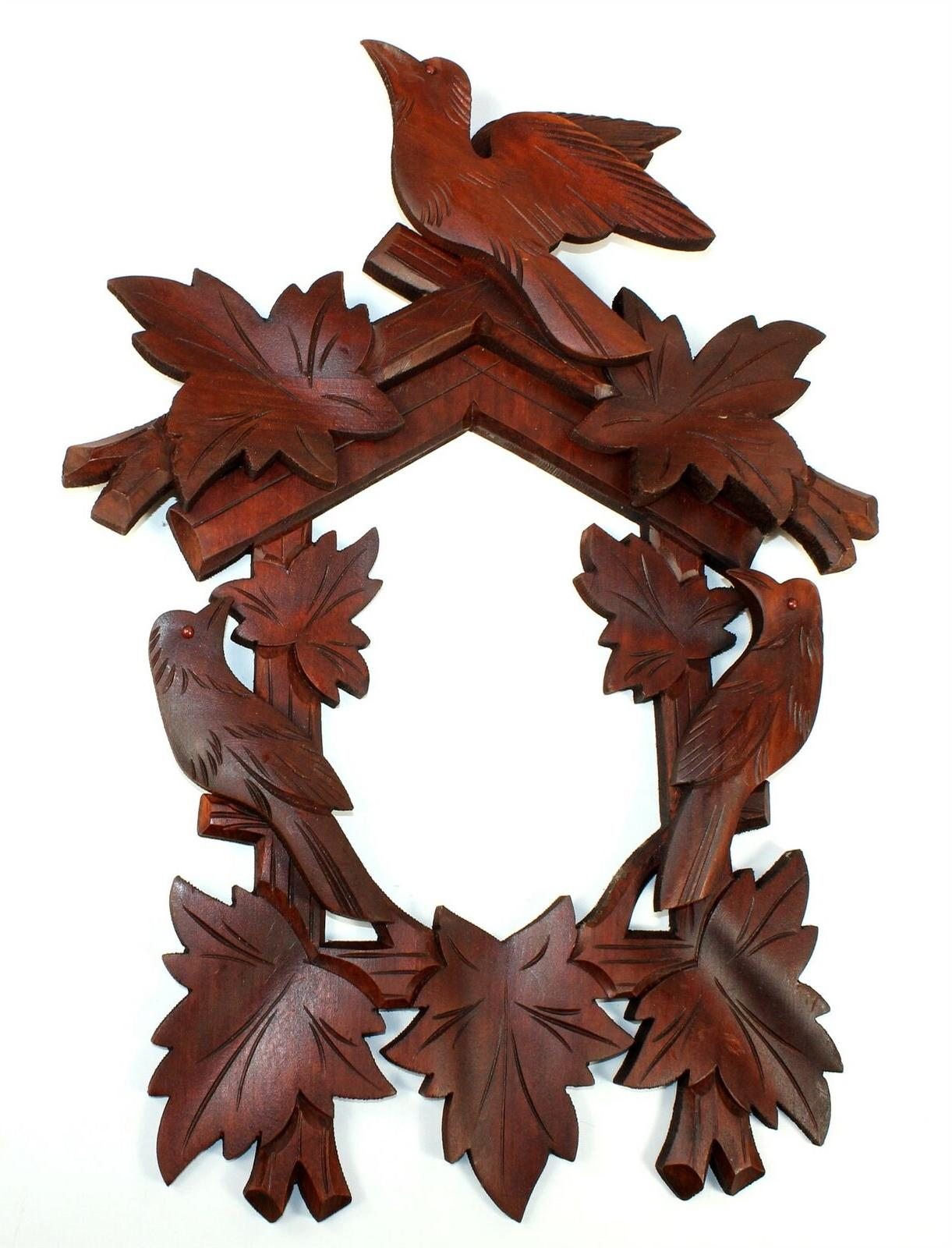 cuckoo clock case crown and front frame