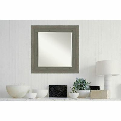 "Amanti DSW4094269 27"" Square Beveled Wood Framed Accent"
