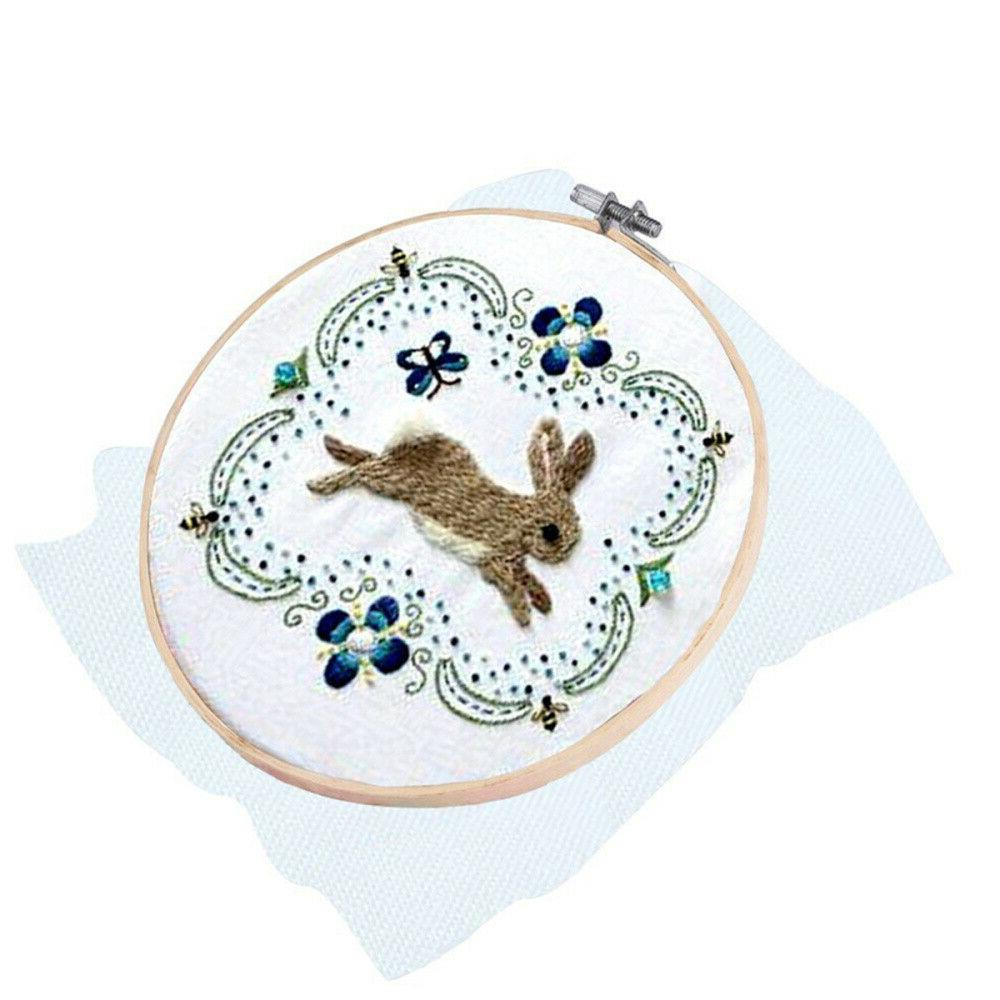 Embroidery Wooden Frame Ring Cross Stitch Sewing DIY Art Bamboo Crafts