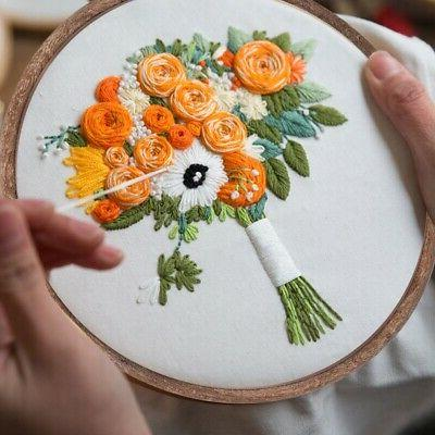 Embroidery Photo Frame Cross-Stitch Hand Sewing DIY Tool Bamboo Crafts