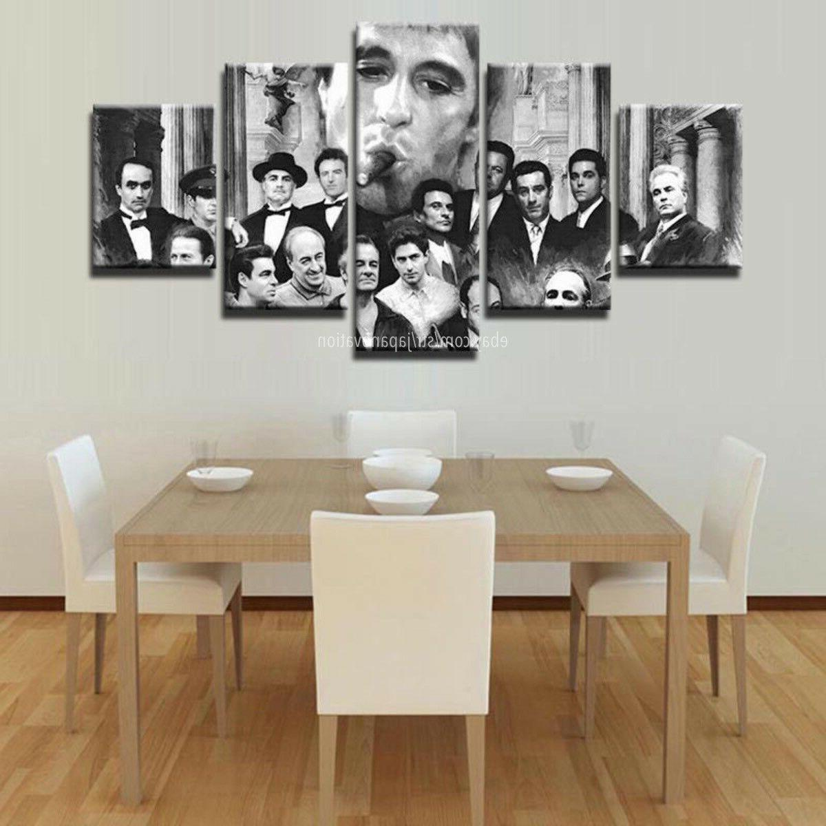Gangsters Scarface Pacino Painting Canvas Wall Art
