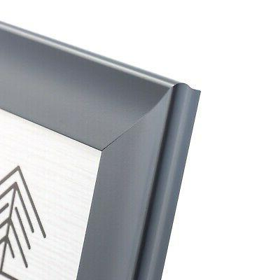 Grey Wooden Picture Frames with Wide 5x7, 8x10, 11x14 - Wall
