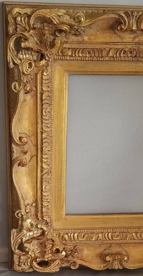 Marie-Thérèse Wood Frame French Provincial Gold