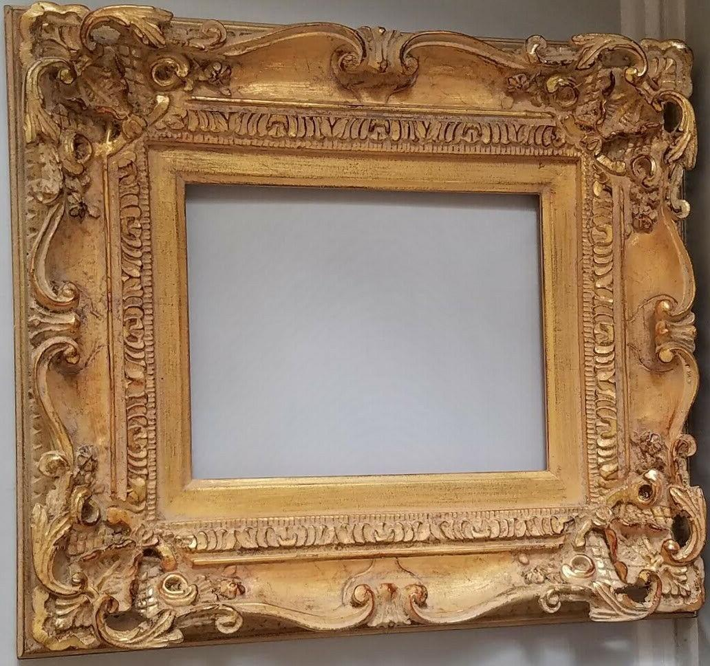 Marie-Thérèse Picture Wood French Provincial Gold Gold