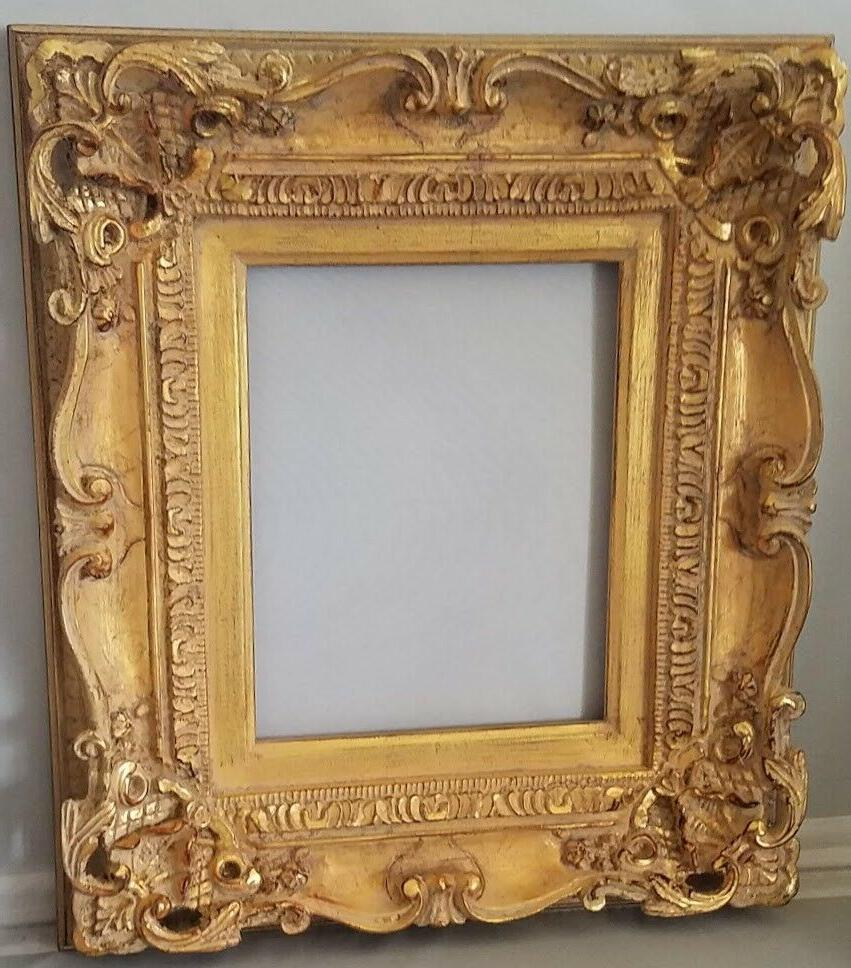 marie therese picture wood frame french provincial