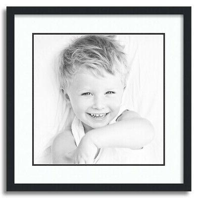 matted 20x20 black picture frame with 2