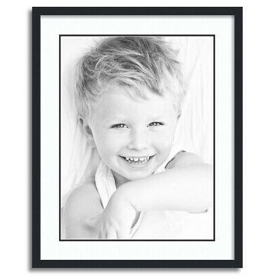 matted 22x28 black picture frame with 2