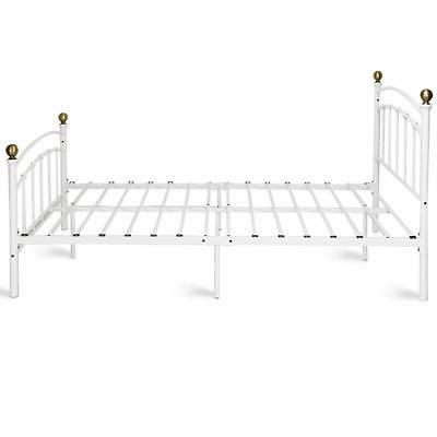 Giantex Metal Frame Metal Platform Support with and Footbo...