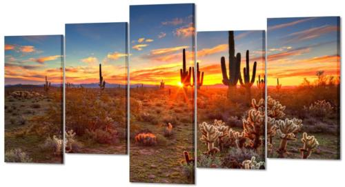 natural landscape paintings wall art sunset