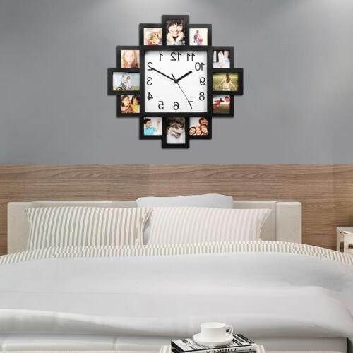 Photo Picture Collage Clock Home