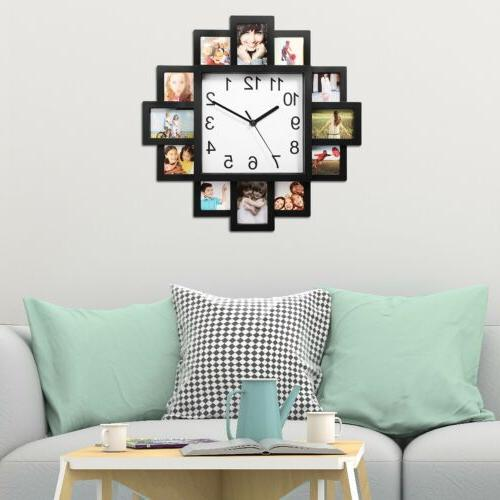 Photo Clock Picture Collage 12-P Display Clock Home