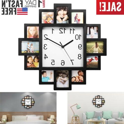 photo frame clock picture collage 12 p