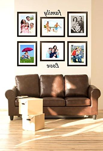 11x14 Inch Black - DEFINITION GLASS FRONT Displays Picture w/o Mat an Photo w/ Mat - Vertical or Horizontal Comes Ready Hang