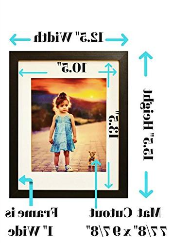 11x14 Inch GLASS - Displays Picture an 8x10 Mat - Horizontal Ready Hang