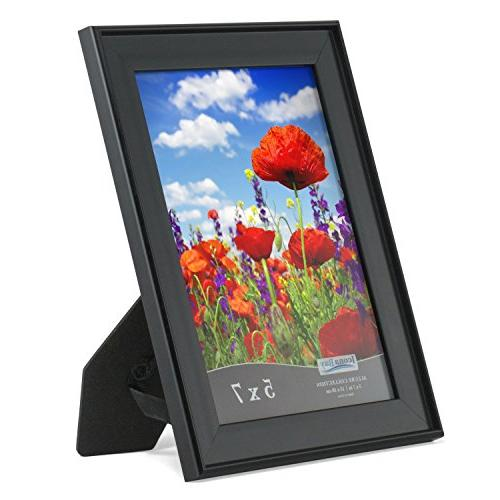 Icona Bay Frames Satin Black, Wall Mount and Table Display Horizontally Allure Collection